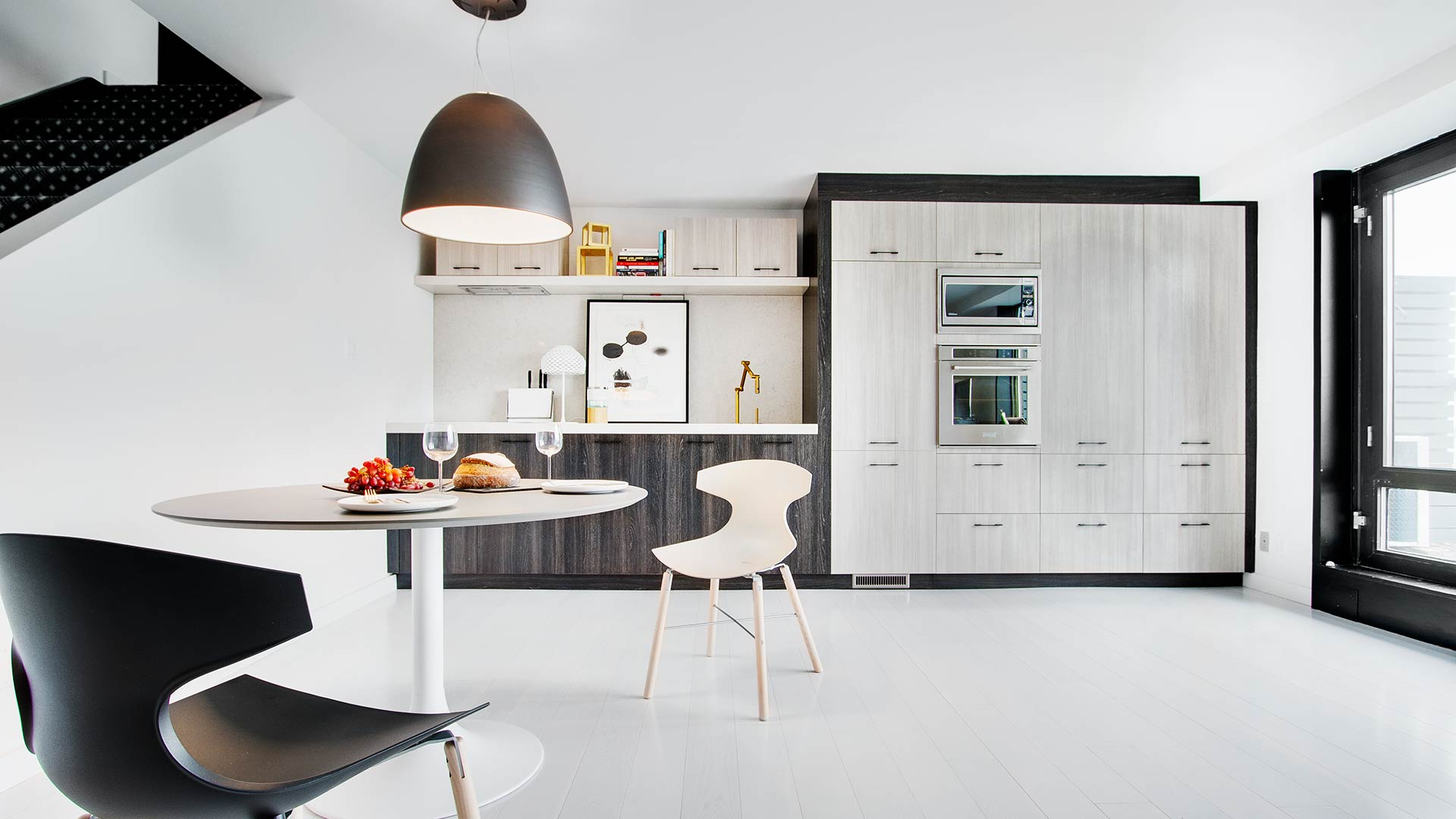 Style rough chic contemporain cabinets en m lamine for Eco cuisine verdun