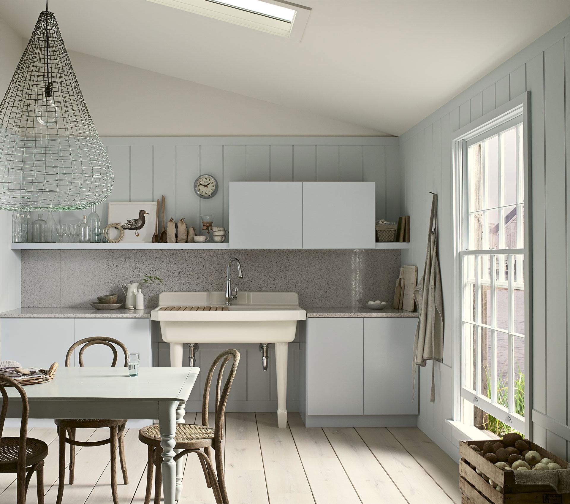 style rustique style rustique avec une touche contemporaine gr ce l vier la robinetterie et. Black Bedroom Furniture Sets. Home Design Ideas
