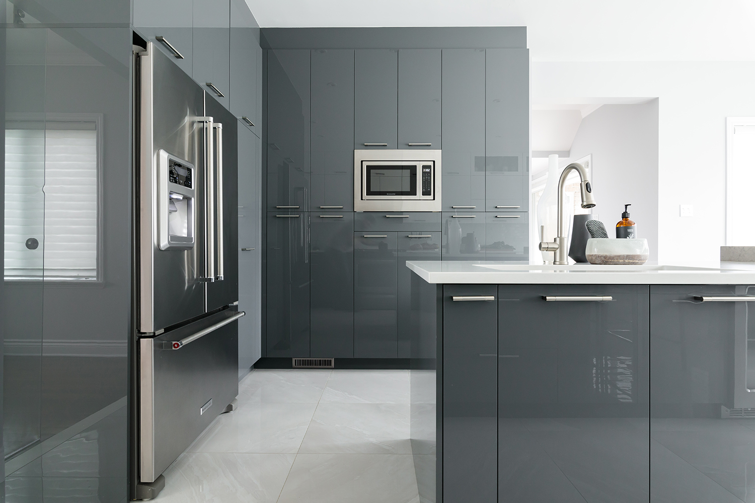 Cuisine Laquée Grise here's how to choose the materials for your kitchen cabinets